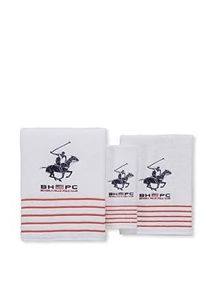 Beverly Hills Polo Club Juego 3 Toallas California Blanco (Blanco)