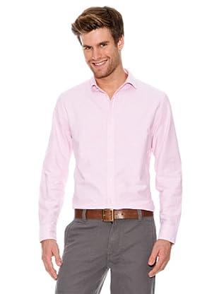 Dockers Camisa Oxford con Tapeta En Botones (Rosa)