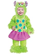 Fun World Costumes Baby Girls Terror In A Tutu Green Costume Small (6 - 12 Months)