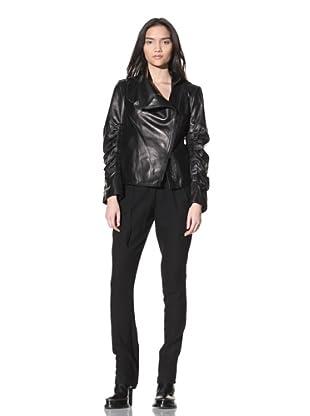 Ann Demeulemeester Women's Rex Leather Jacket (Black)