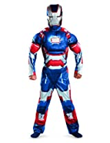 Marvel Iron Man 3 Patriot Boys Classic Muscle Costume, 7-8