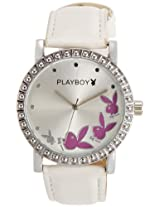 Playboy Analog Silver Dial Women's Watch - P3178