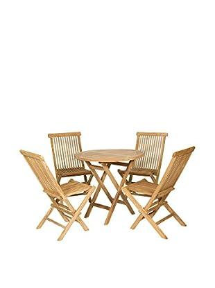 Set, 5-teilig Tisch mit Stühlen