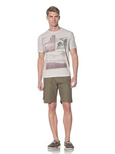 Fresh Men's Printed T-Shirt (Beige)