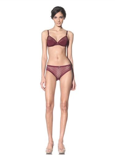 Lejaby Women's 3D Zire Brief (Burgundy)