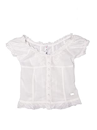 New Caro Camisa Adorno (Blanco)