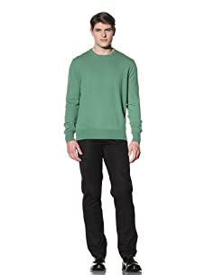 Cruciani Men's Crew Neck Knit Sweater (Green)