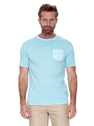 Cortefiel Camiseta Básica Tintada (Azul Pastel)