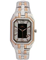 Ciemme Men's Luxury Watches Black-White Dial SS-Rose Gold Swiss Quartz Movement 3ATM