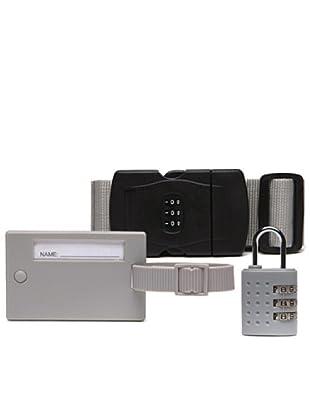 Platinium Kit Viaggio: Cintura, etichetta, lucchetto grigio