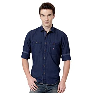 Louis Philippe Casual Solid Full Sleeved Shirt