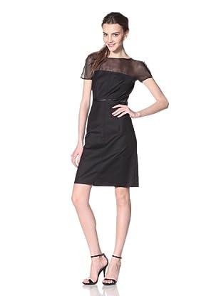 Les Copains Women's White Label Lace Print Dress (Black)