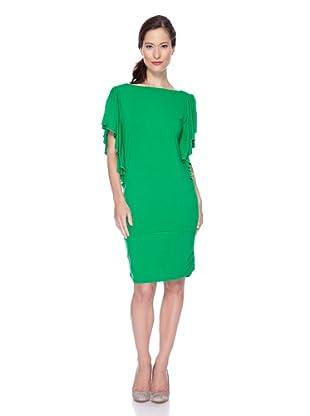 Ugli Sista Vestido Manga Corta Vuelo (Verde)