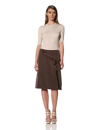 JIL SANDER Women's Techno Taffeta Skirt