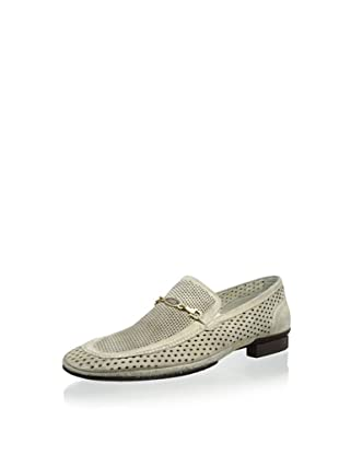 Dino Bigioni Men's Perforated Loafer (Ivory)