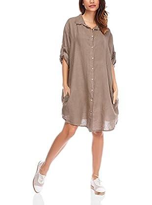 100% Lino by Bleu Marine Hemdblusenkleid Wendy