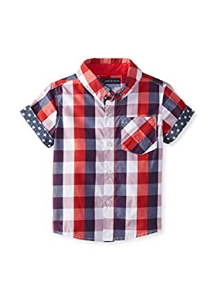 Andy & Evan Boy's Lil' Drummer Boy Buffalo Check Shirt