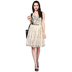 Eavan Off-White and Black Dress