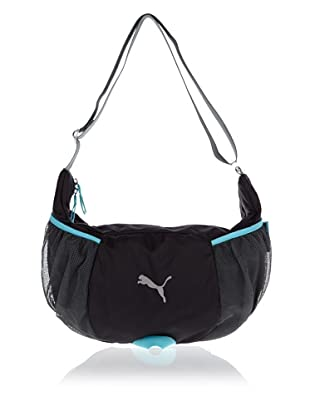 PUMA Tasche Fitness Shoulder (black/turbulence/blue curacao)