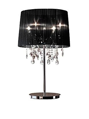 CRYSTAL Lámpara De Mesa LED Hi-Land Con Paralume aluminio/Negro