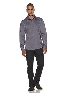 Dorsia Men's Ada Slim Fit Shirt (Charcoal)