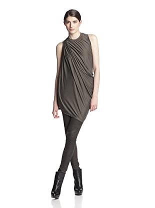 Rick Owens Women's Side Drape Top (Dark Dust)