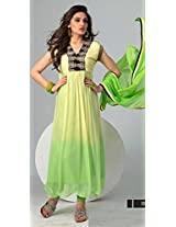 Latest Parrotgreen Traditional And Fashionable Anarkali Suit By Khantil Ss2151-1577