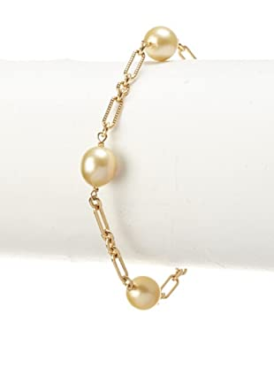 Radiance Pearl Golden South Sea Pearl Tincup Bracelet