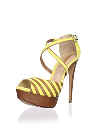 Schutz Women's Striped Sandal (Sunshine/Multi)