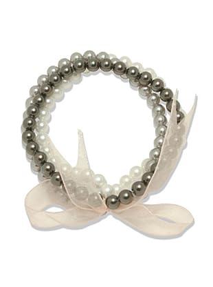 Perldor 60650123 - Pulsera de mujer con perla natural Gris 20 cm