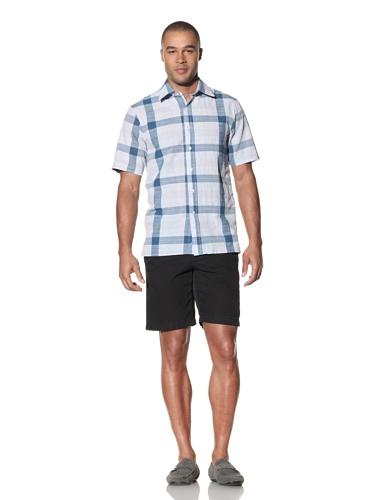 Report Collection Men's Large Scale Plaid Shirt (Lavender)