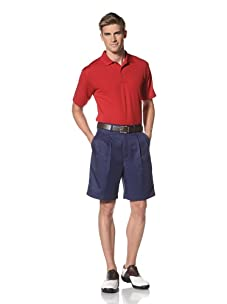 PGA Tour Men's Solid Polo (Jockey Red)