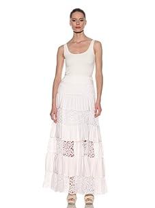 Catherine Malandrino Women's Broderie Anglaise Maxi Skirt (White)