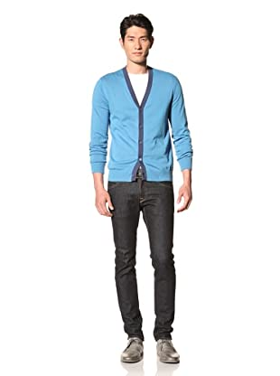 Two Thirds Men's Jefrys Cardigan (Swedish Blue)