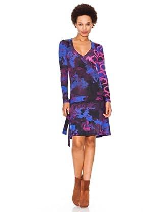 Desigual Vestido Mantal (violeta royal)