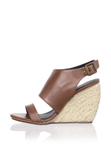 Rebecca Minkoff Women's Suri Wedge Sandal (Luggage)