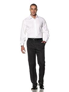 Yves Saint Laurent Men's Spigatino Italian Collar Dress Shirt (White)