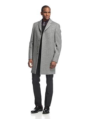 Calvin Klein Collection Men's Chevron Overcoat (Grey)