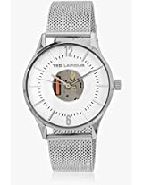5129601 Silver/White Analog Watch Ted Lapidus