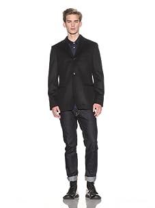 John Varvatos Men's Convertible Notch Lapel Soft Jacket (Concrete)