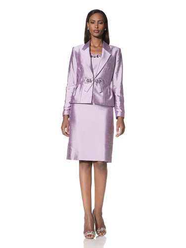 Tahari by A.S.L. Women's Suit with Bow Embellishment (Lavender)