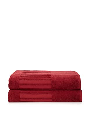 Garnier-Thiebaut Set of 2 Bath Sheets (Bordeaux)