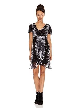 Desigual Vestido Sepia (Negro Estampado)
