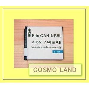 【クリックで詳細表示】Amazon.co.jp|Canon NB8L キャノン PowerShot A3300 IS/ A3200 IS/ A2200/ A3100 IS 対応 クイックチャージ バッテリー|カメラ・ビデオ通販