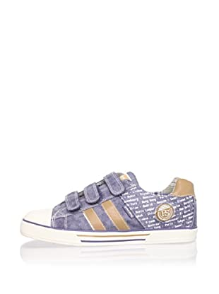 Pablosky Kid's City 3-Strap Sneaker (Washed Jeans)