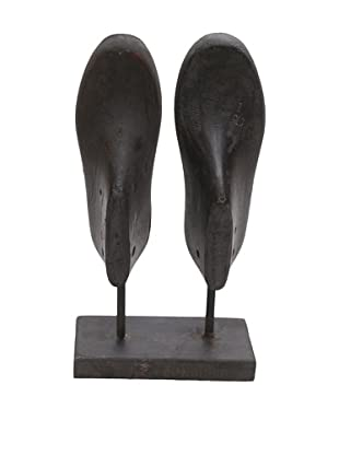 Double Shoe Mold, Ebony Vertical