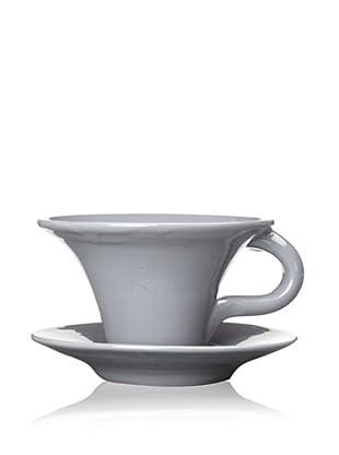 Terafeu Terafour 6.5-Oz. Tea Cup and Saucer (Grey)