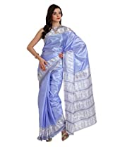 Parchayee Synthetic blue Saree