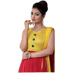 Latest Red and Yellow Anarkali Suit