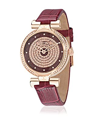 Just Cavalli Quarzuhr Woman Lady J bordeaux/roségold 41.6X36 mm